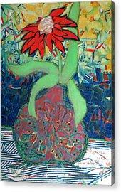 Red Diasy Acrylic Print by Diane Fine