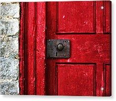 Red Door Acrylic Print by Steven  Michael