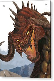 Red Dragon Acrylic Print by Matt Kedzierski