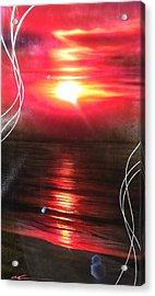 Ocean - ' Red Earth ' Acrylic Print by Christian Chapman Art