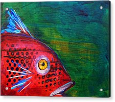 Red Fish Acrylic Print by Nancy Merkle