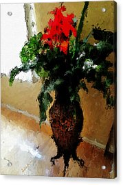 Red Flower Stance Acrylic Print by Robert Smith