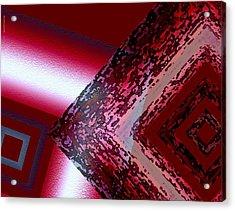 Red Fusion Acrylic Print by Mario Perez