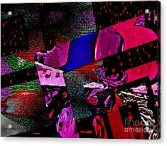 Red Geometric Expression Acrylic Print by Mario Perez
