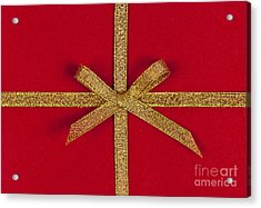 Red Gift With Gold Ribbon Acrylic Print by Elena Elisseeva