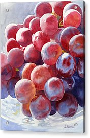 Red Grape Essence Acrylic Print by Sharon Freeman