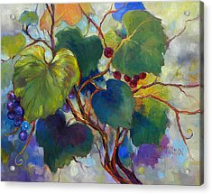 Red Grape Vines Acrylic Print by Peggy Wilson