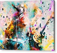 Red Hot Chili Peppers Acrylic Print by Rosalina Atanasova
