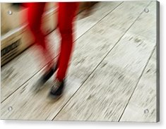 Red Hot Walking Acrylic Print by Karol Livote