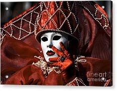 Red Acrylic Print by John Rizzuto