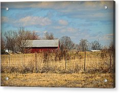 Red Kentucky Relic Acrylic Print by Paulette B Wright