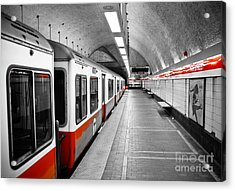 Red Line Acrylic Print by Charles Dobbs