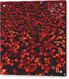 Red Matter/orgasmic Symbolism Acrylic Print by George Curington