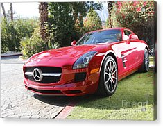 Red Mercedes Benz Acrylic Print by Nina Prommer