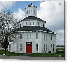 Red Mile Barn Acrylic Print by Roger Potts