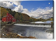 Red Mill At Clinton New Jersey Acrylic Print by Susan Candelario