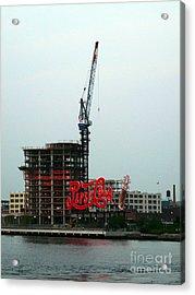 Red Pepsi Sign  Acrylic Print by Avis  Noelle
