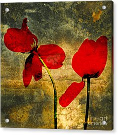 Red Petals Acrylic Print by Bernard Jaubert