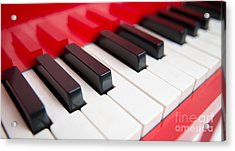 Red Piano Acrylic Print by Yew Kwang