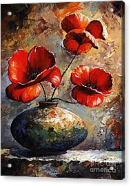 Red Poppies 02 Acrylic Print by Emerico Imre Toth