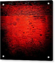 Red Rain Acrylic Print by Dave Bowman