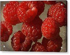 Red Raspberries Acrylic Print by Cindi Ressler