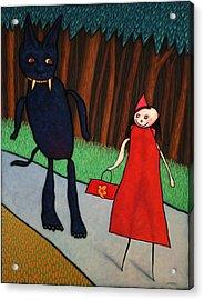 Red Ridinghood Acrylic Print by James W Johnson