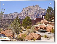 Red Rock Canyon Visitor Center Nevada. Acrylic Print by Gino Rigucci