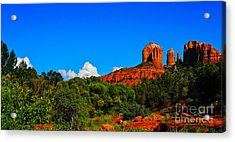 Red Rock Crossing Acrylic Print by Tracey McQuain