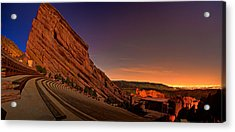 Red Rocks Amphitheatre At Night Acrylic Print by James O Thompson