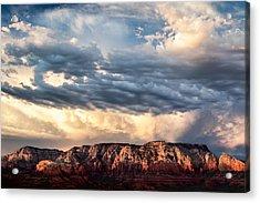 Red Rocks Of Sedona Acrylic Print by Dave Bowman