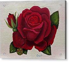 Red Rose Acrylic Print by Zina Stromberg