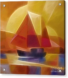 Red Sails Acrylic Print by Lutz Baar
