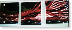 Red Sequence Acrylic Print by Vickie Meza
