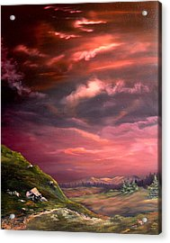 Red Sky At Night Acrylic Print by Jean Walker