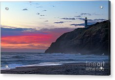 Red Sky At North Head Lighthouse Acrylic Print by Robert Bales
