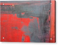 Red Square Dissected IIi  C2010 Acrylic Print by Paul Ashby