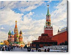 Red Square Of Moscow - Featured 3 Acrylic Print by Alexander Senin