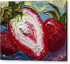 Red Strawberries Acrylic Print by Paris Wyatt Llanso