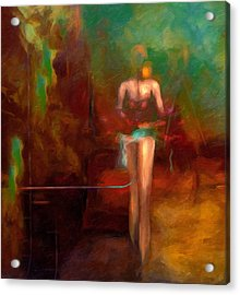 Red Swan Arising Acrylic Print by Georgiana Romanovna