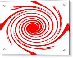 Red Swirl War  Acrylic Print by Lali Kacharava