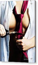 Red Tie Acrylic Print by Jelena Jovanovic
