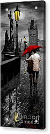 Red Umbrella 2 Acrylic Print by Yuriy Shevchuk