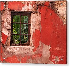 Red Wall Acrylic Print by Rick Piper Photography