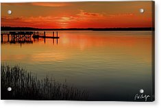 Red Water Acrylic Print by Phill Doherty