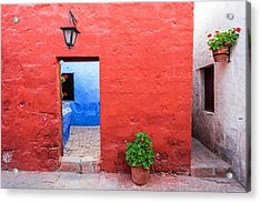 Red White And Blue Colonial Architecture Acrylic Print by Jess Kraft