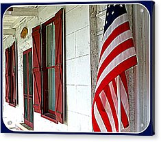 Red White And Blue Acrylic Print by Dorothy Menera