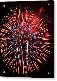 Red White And Blue Acrylic Print by Harold Rau