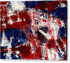 Red White And Blue Acrylic Print by Susan Sadoury