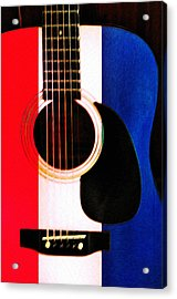 Red White And Blues Acrylic Print by Bill Cannon